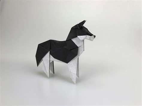Origami Husky - new year 2018 origami extravaganza