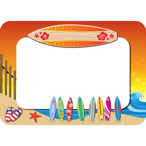 name tags surf s up name tags labels tcr5361 created