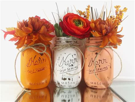 Home Decor Centerpieces | fall decor mason jar centerpieces autumn decor home decor