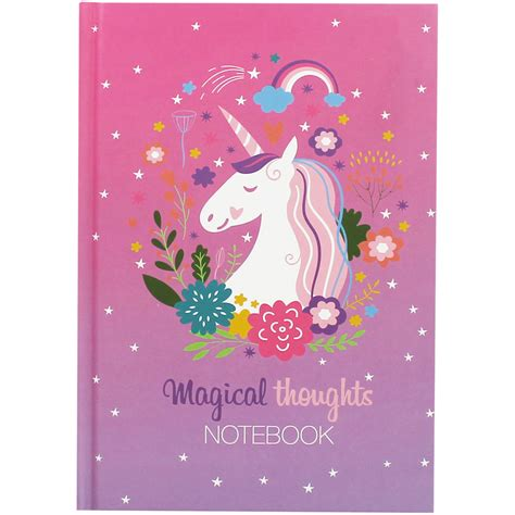 Unicorn A5 Notebook a5 casebound unicorn magical thoughts notebook