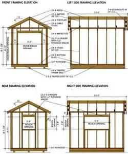 8 215 12 shed blueprints for building a wooden storage shed