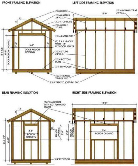 Blueprints For Shed 8 215 12 shed blueprints for building a wooden storage shed