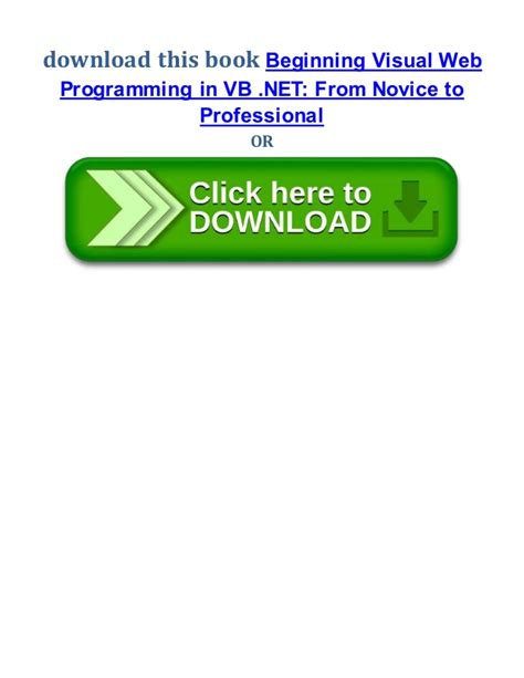 pree bug tsel beginning visual web programming in vb net from novice to
