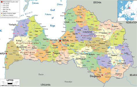 where is latvia on a map latvia river map