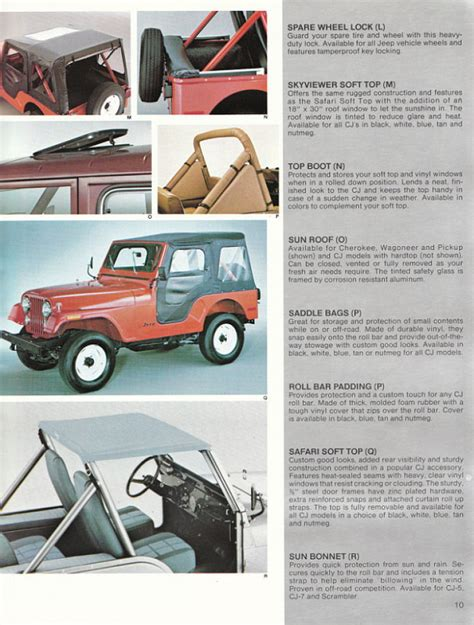 Jeep Accessories Catalog Image 1982 Jeep Accessories 1982 Jeep Accessories Catalog 10