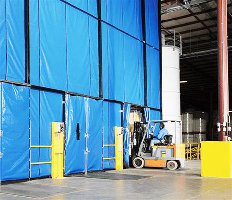 loading dock curtains zoneworks applied handling