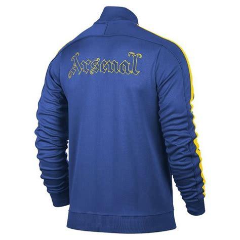 Kemeja Cowok Arsenal Blue Yellow nike arsenal track top n98 blue yellow www unisportstore