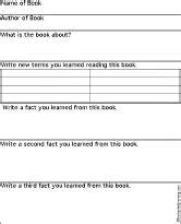 Nonfiction Book Report Form 3rd Grade by Non Fiction Book Review Chart Printout 2 Graphic Organizers Enchantedlearning