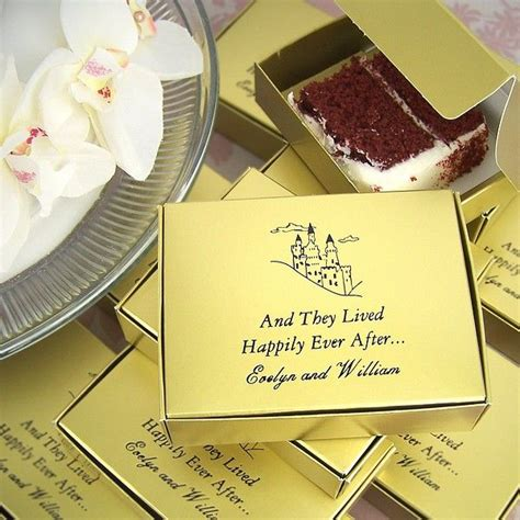 Personalized Wedding Cake Slice Favor Boxes by 5 X 4 Custom Printed Wedding Cake Slice Favor Boxes
