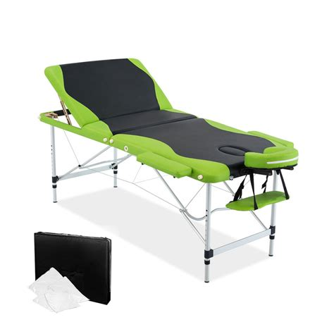 table 3 green aluminium table 3 fold green black