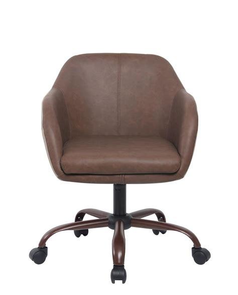 chaise de bureau marron cab chaise de bureau design pivotante 224 roulettes