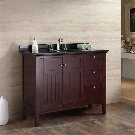 42 bathroom vanity with granite top shop ove decors tobacco undermount 1 bathroom vanity with