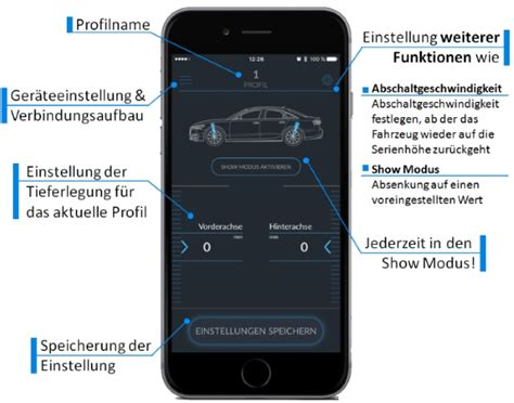 App Zum Tieferlegen by Tieferlegung Des Luftfahrwerks Per App F 252 R Audi A6 S6 Rs6 4g