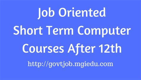 Why Mba After Computer Engineering Answer by Oriented Term Computer Courses After 12th