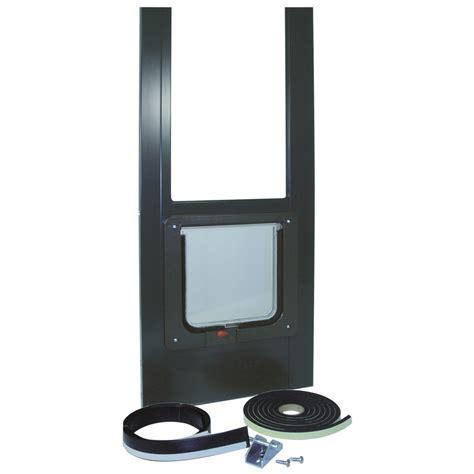 electronic patio pet door bronze