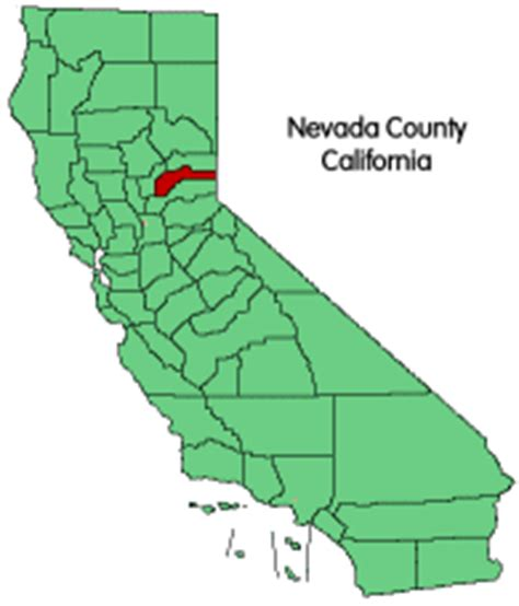 map of nevada county ca nevada county ca bed and breakfasts vacation rentals