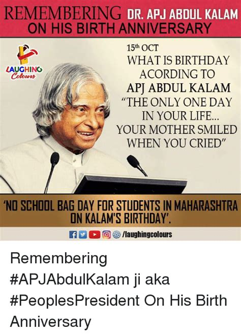 biography about your mother remembering dr apabdul kalam on his birth anniversary 15th