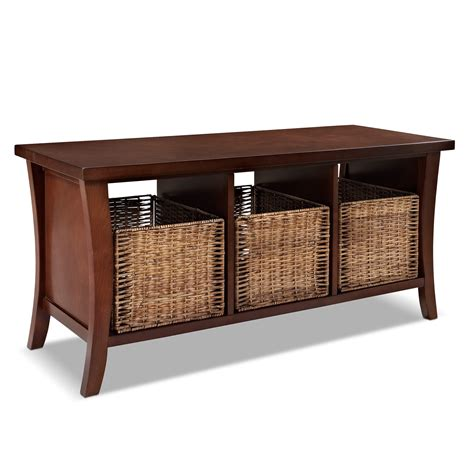 mahogany storage bench mae mahogany entryway storage bench value city furniture