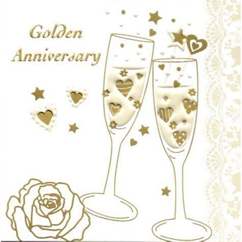 golden wedding anniversary invitation card golden wedding invitations cards in packs of 5 wizard