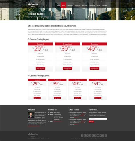 theme item list automotive car dealership business wordpress theme by
