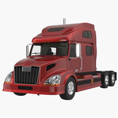 semi trailer truck semi trailer truck 3d model
