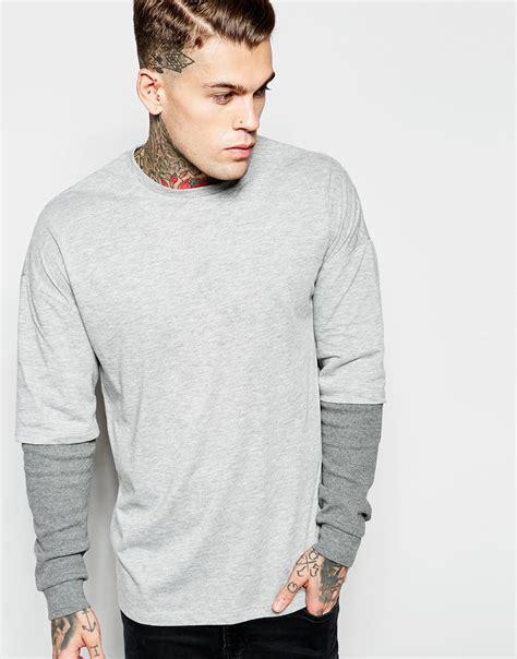 Sleeve Oversized T Shirt asos oversized sleeve t shirt with waffle
