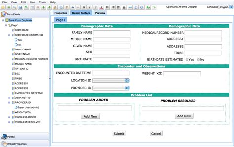 xforms module form designer documentation openmrs wiki