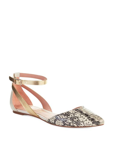 enzo shoes flats enzo angiolini christaz flats in gold snake gold