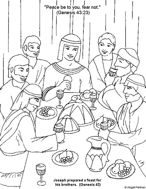 joseph meets his brothers coloring page coloring pages