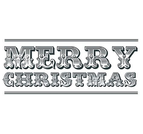 merry clipart words merry word