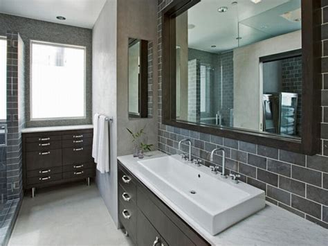 bathrooms in grey classic grey bathroom interior white rectangular farmhouse