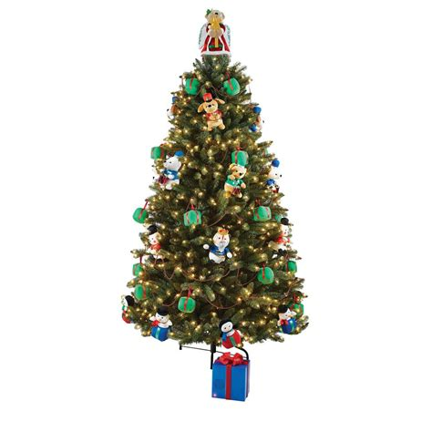 animated christmas tree images home accents 7 5 ft artificial tree with musical animated plush and led