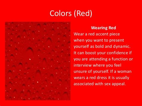 red color meaning colors meaning