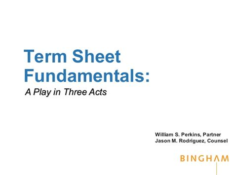 M A Term Sheet Template by Come To Terms With And Venture Term Sheets