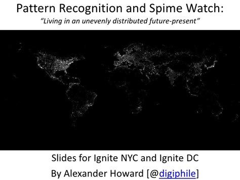 pattern recognition slideshare visions of the future spime watch and pattern recognition