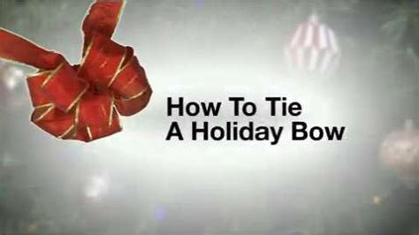 how to tie a holiday bow holiday how to videos and