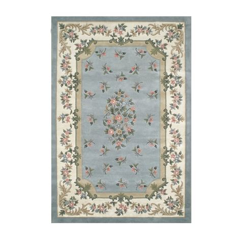 Blue Floral Area Rug American Home Rug T003lbiy Floral Garden Floral Aubusson Area Rug Light Blue And Ivory Atg Stores