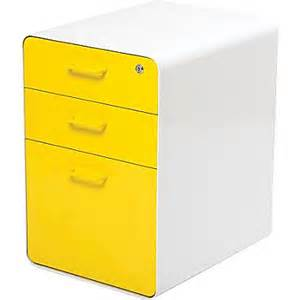 Yellow Metal Filing Cabinet Poppin Stow File Cabinet 3 Drawer White Yellow 100426 Staples 174