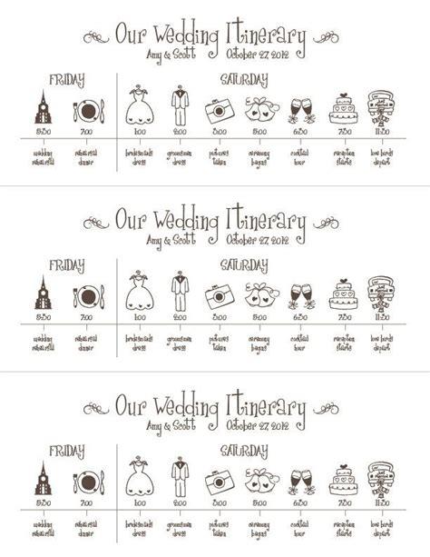 Hochzeitseinladung Zeitplan by Wedding Timeline Printable Digital File Schedule