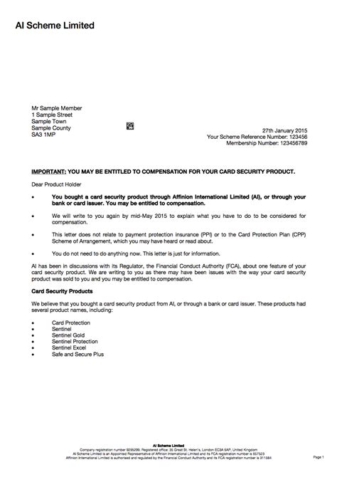 Insurance Update Letter Warning Don T Throw Sentinel Redress Letters Money Saving Expert