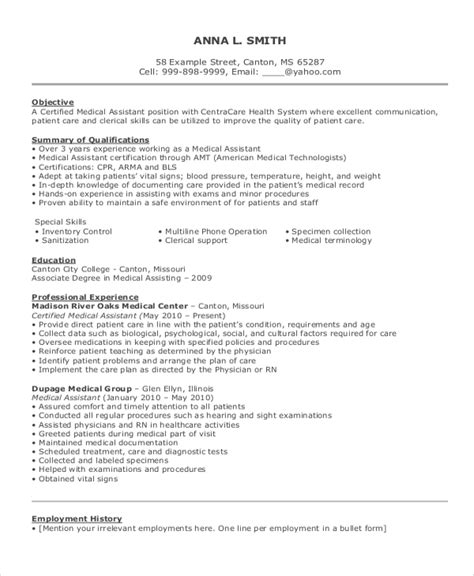 resume objective exles for assistant resume exle for 8 sles in word pdf