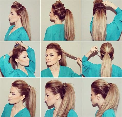 hairstyle open hair dailymotion 25 best ideas about bumped ponytail on pinterest bump