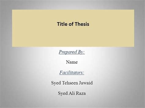 Sle Ppt Thesis Authorstream Thesis Powerpoint Template