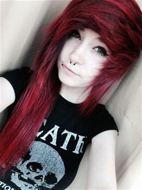 emo hairstyles no bangs absolutely love her hair style and color hair