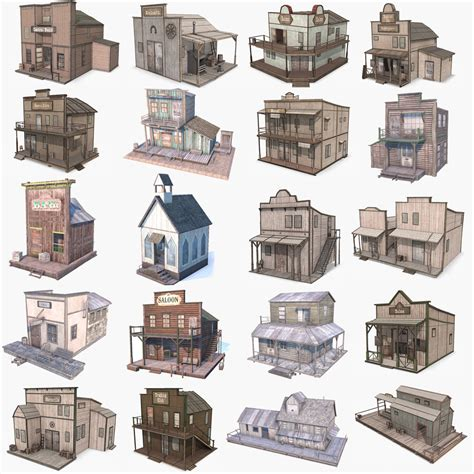 3d Western Buildings Old West Pinterest Westerns Saloon Style House Plans