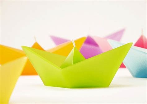 Origami Boat Candles - floating candles inspired by origami