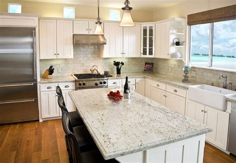 Colonial Granite With White Cabinets by Colonial Granite