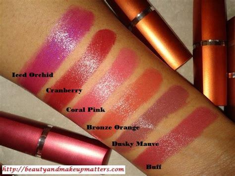 Lipstik Maybelline Color Sensational Moisture Lipstick swatch 6 maybelline color sensational moisture lipsticks fashion