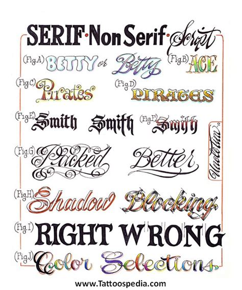 tattoo fonts running writing tony baxter
