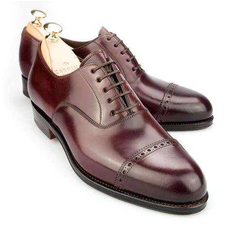 cordovan oxford shoes cap toe oxford in cordovan burdeaux carmina